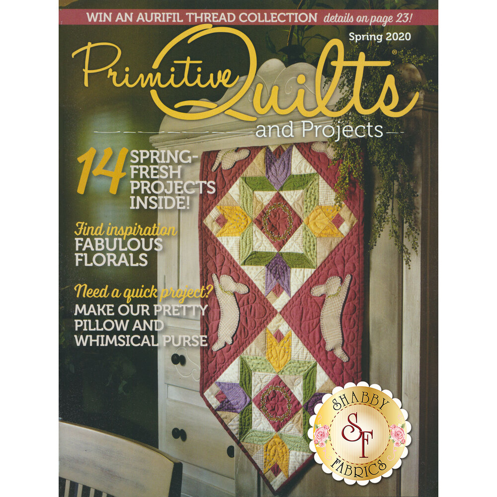 The front of the Primitive Quilts And Projects - Spring 2020 Magazine