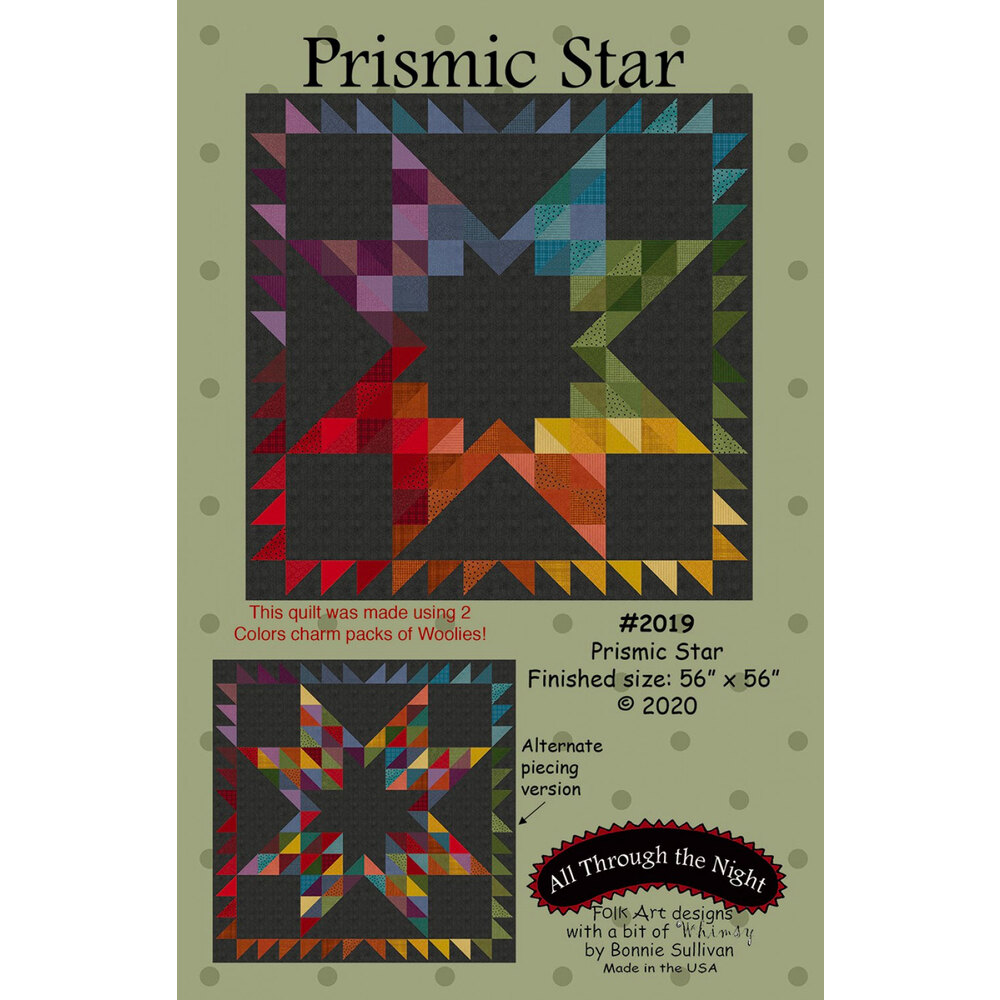The front of the Prismic Star pattern