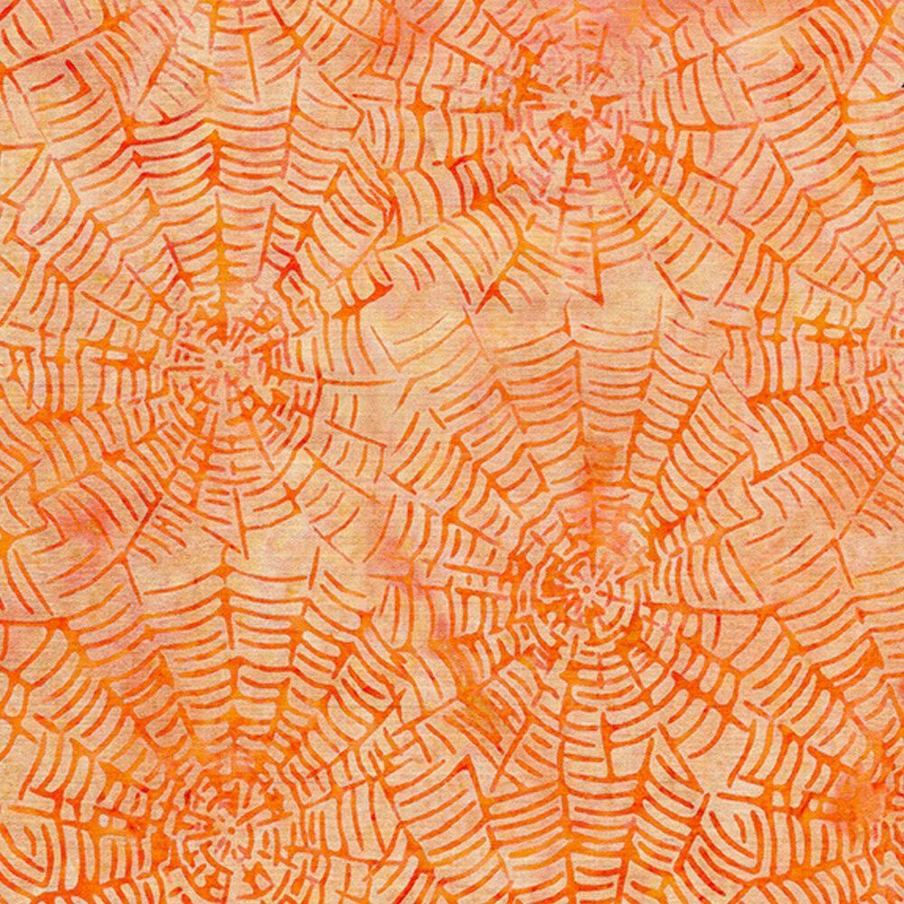 Orange spiderwebs
