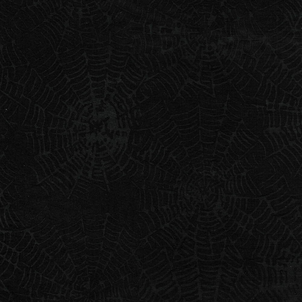 Black spiderwebs