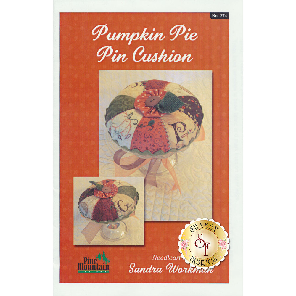 Pumpkin Pie Pin Cushion Pattern available at Shabby Fabrics