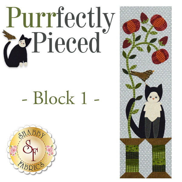 Purrfectly Pieced Quilt - Laser-Cut Block 1 Kit