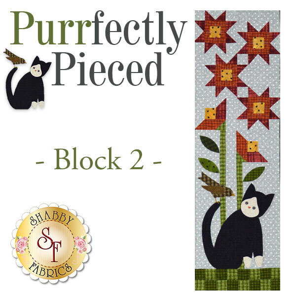 Purrfectly Pieced Quilt - Laser-Cut Block 2 Kit