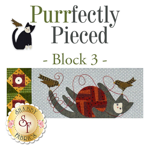 Purrfectly Pieced Quilt - Laser-Cut Block 3 Kit