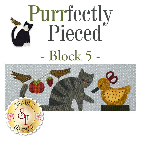 Purrfectly Pieced Quilt - Laser-Cut Block 5 Kit