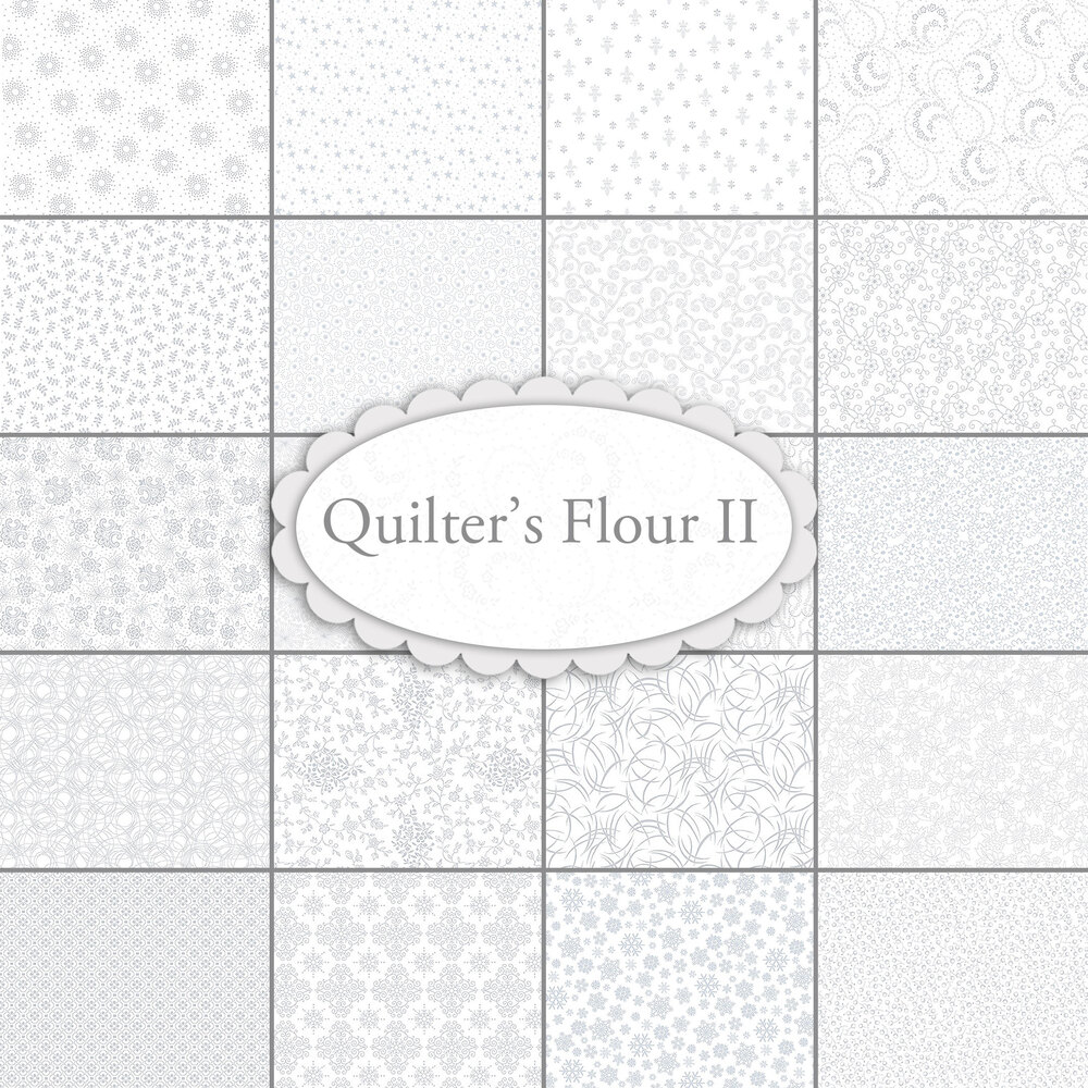 Collage of fabrics included in Quilters Flour II collection | Shabby Fabrics