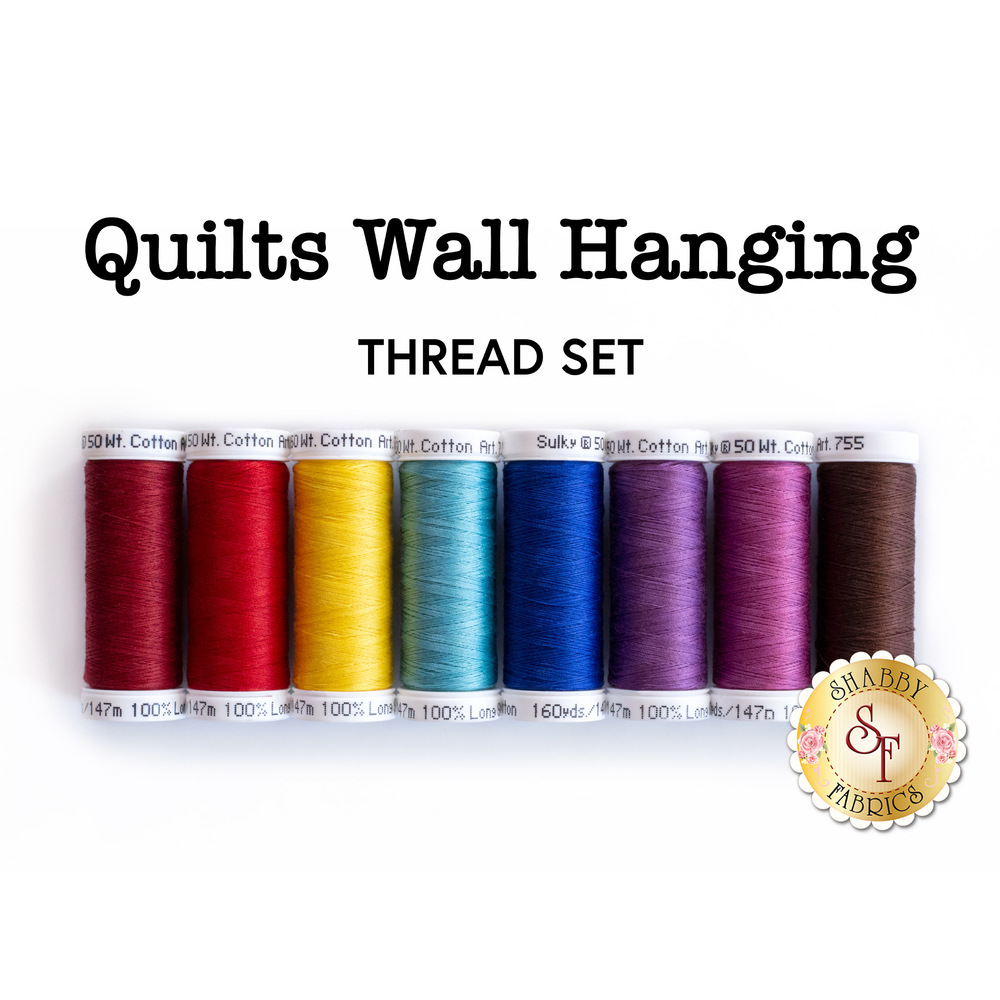 Quilts Wall Hanging - 8pc Sulky Thread Set available at Shabby Fabrics