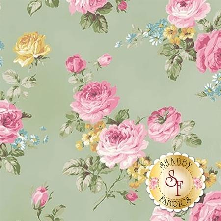 Ruru Bouquet Sweet Rose RU2330-11C by Quilt Gate Fabrics