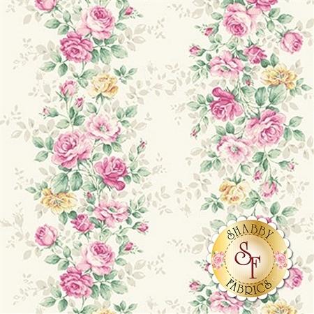 Ruru Bouquet Sweet Rose RU2330-12A by Quilt Gate Fabrics