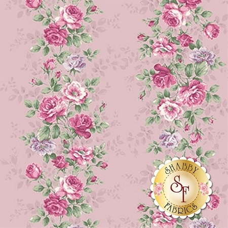 Ruru Bouquet Sweet Rose RU2330-12D by Quilt Gate Fabrics