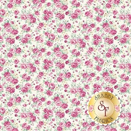 Ruru Bouquet Sweet Rose RU2330-14A by Quilt Gate Fabrics