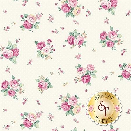 Ruru Bouquet Sweet Rose RU2330-15A by Quilt Gate Fabrics