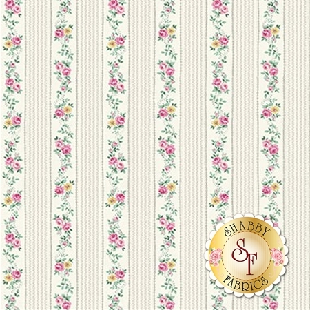 Ruru Bouquet Sweet Rose RU2330-16A by Quilt Gate Fabrics