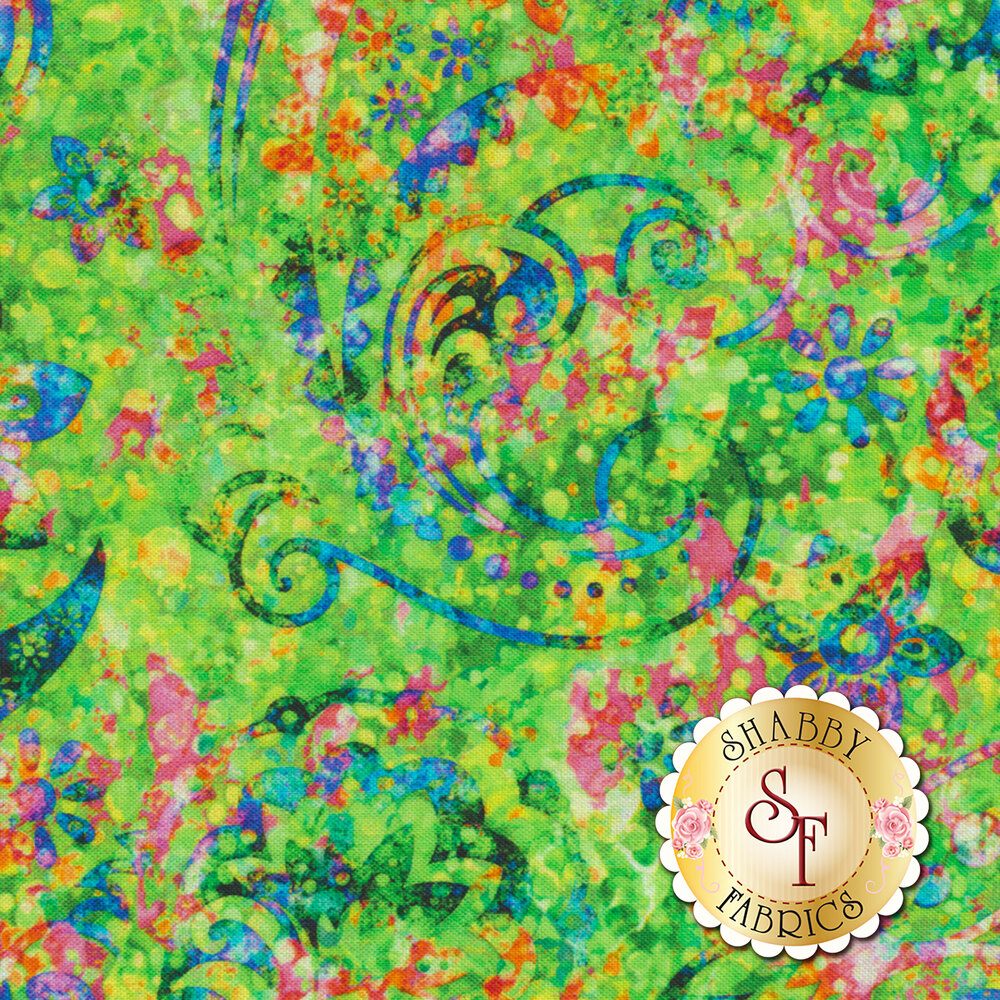 Radiance 27094-G Green by Quilting Treasures Fabrics available at Shabby Fabrics