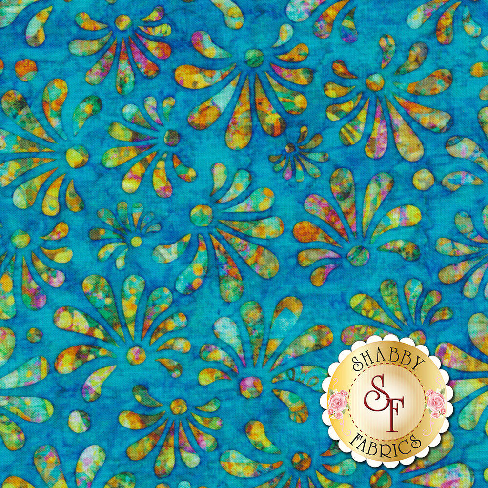 Radiance 27096-B Cyan by Quilting Treasures Fabrics available at Shabby Fabrics