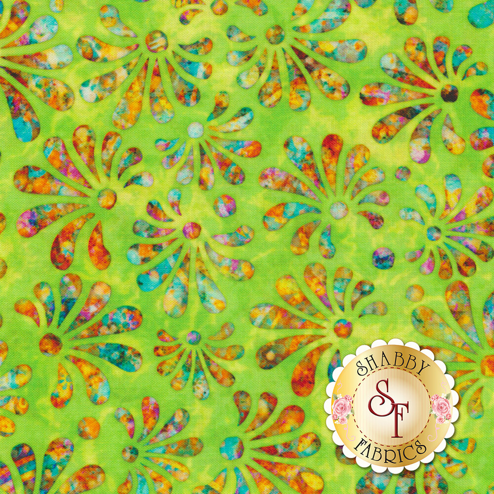 Radiance 27097-G Lime by Quilting Treasures Fabrics available at Shabby Fabrics