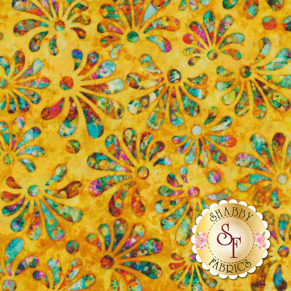 Radiance 27097-S Yellow by Quilting Treasures Fabrics available at Shabby Fabrics