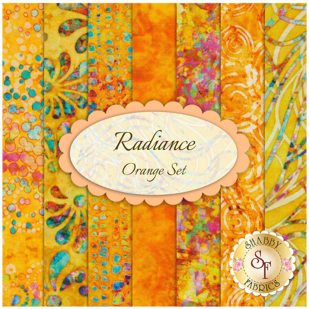 Radiance  7 FQ Set - Orange by Quilting Treasures Fabrics available at Shabby Fabrics