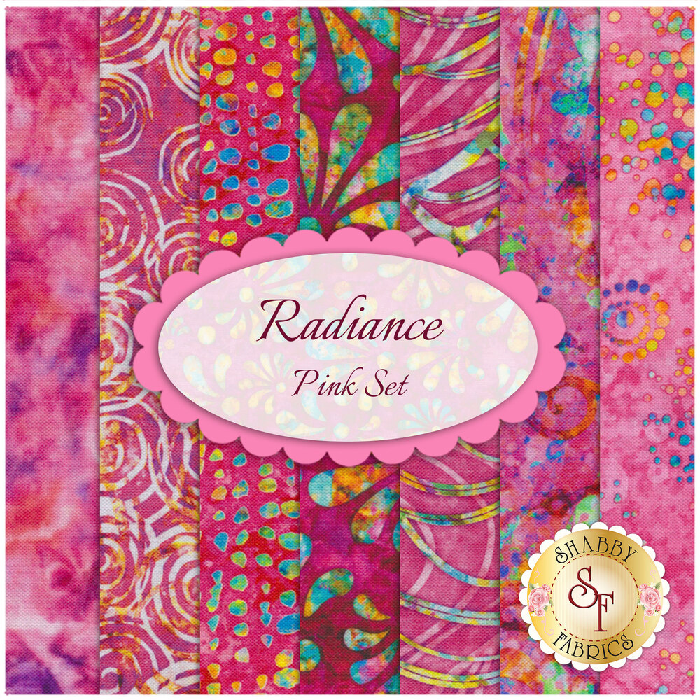 Radiance  7 FQ Set - Pink by Quilting Treasures Fabrics available at Shabby Fabrics