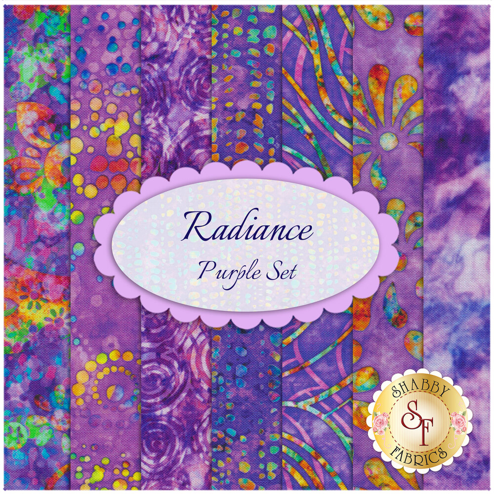 Radiance  7 FQ Set - Purple by Quilting Treasures Fabrics available at Shabby Fabrics