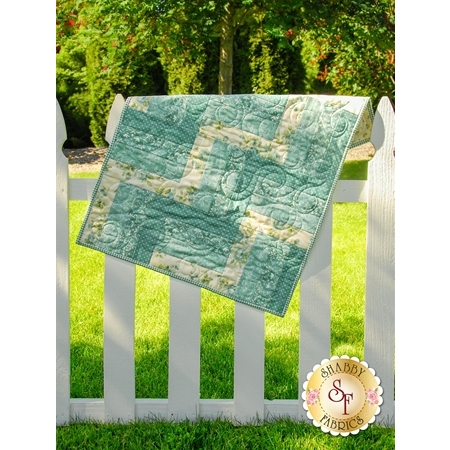 Rail Fence Quilt - Welcome Home Teal - SAMPLE QUILT