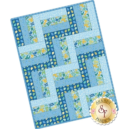 Rail Fence Pre-Cut Kit - Babe In The Woods - Blue