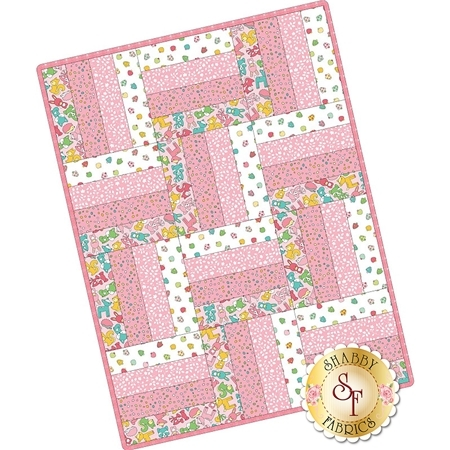 Rail Fence Pre-Cut Kit - Babe In The Woods - Pink