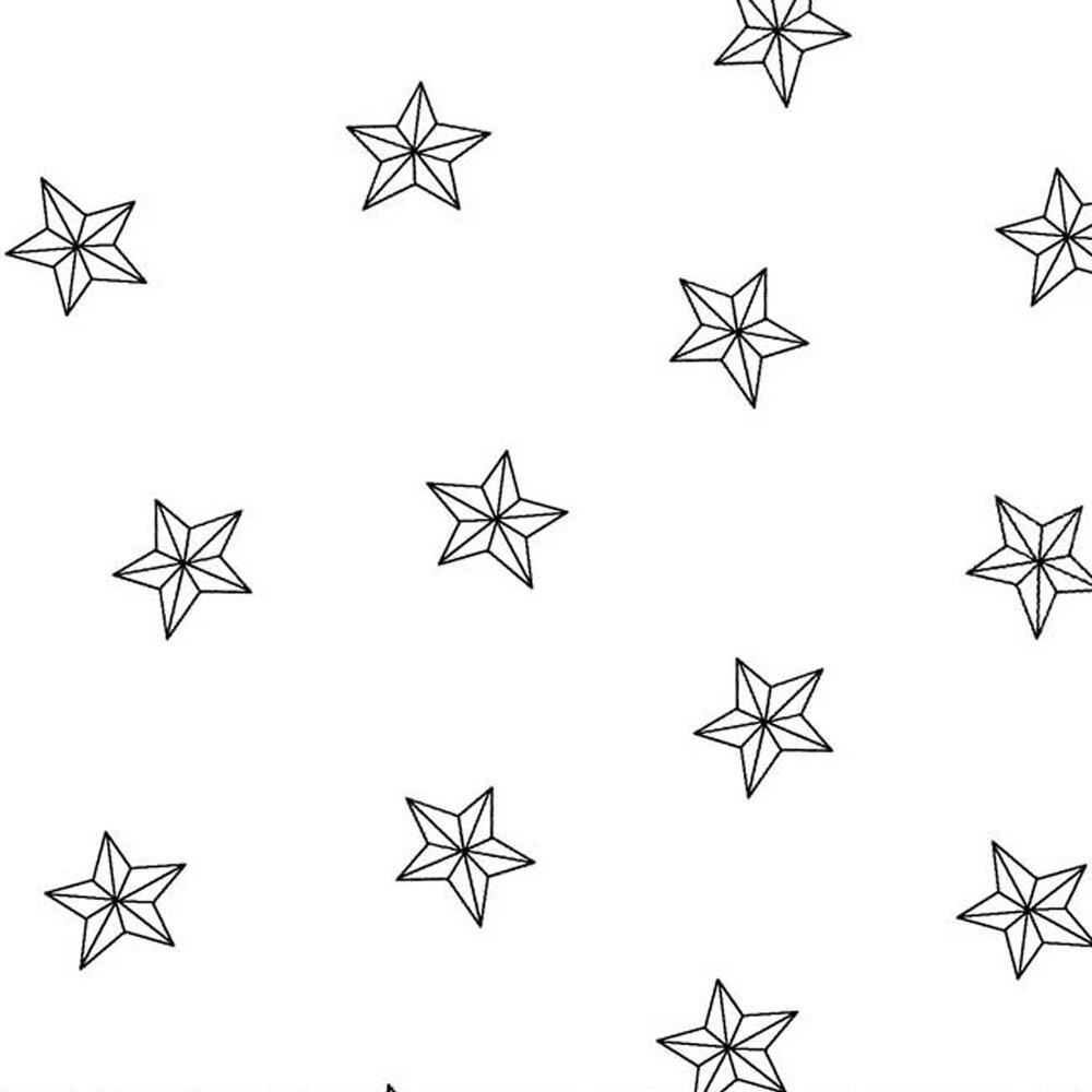 Tossed stars on a white background   Shabby Fabrics