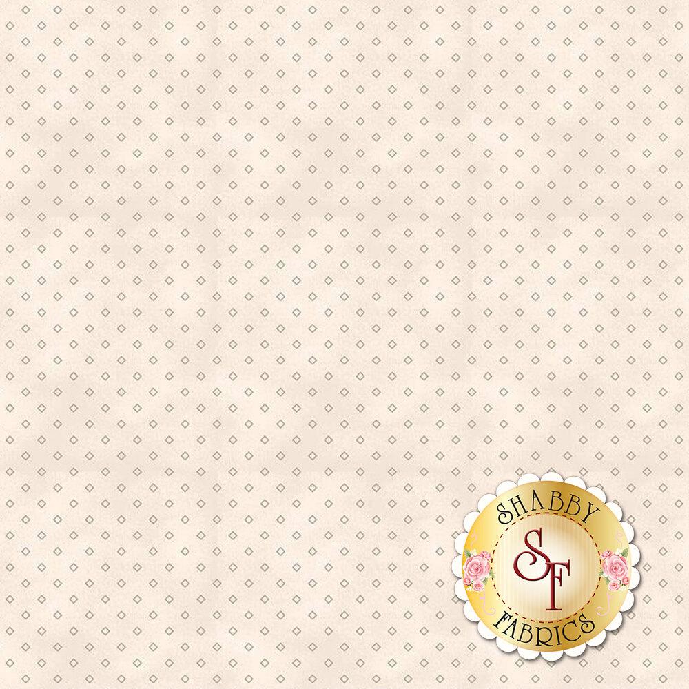 Small grey diamonds on a cream background | Shabby Fabrics