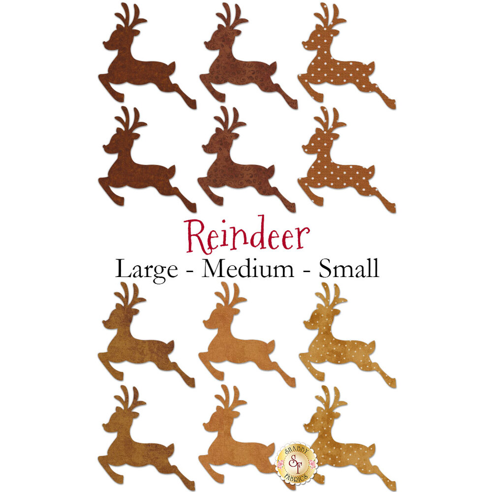 Laser-Cut Reindeer - 3 Sizes Available!