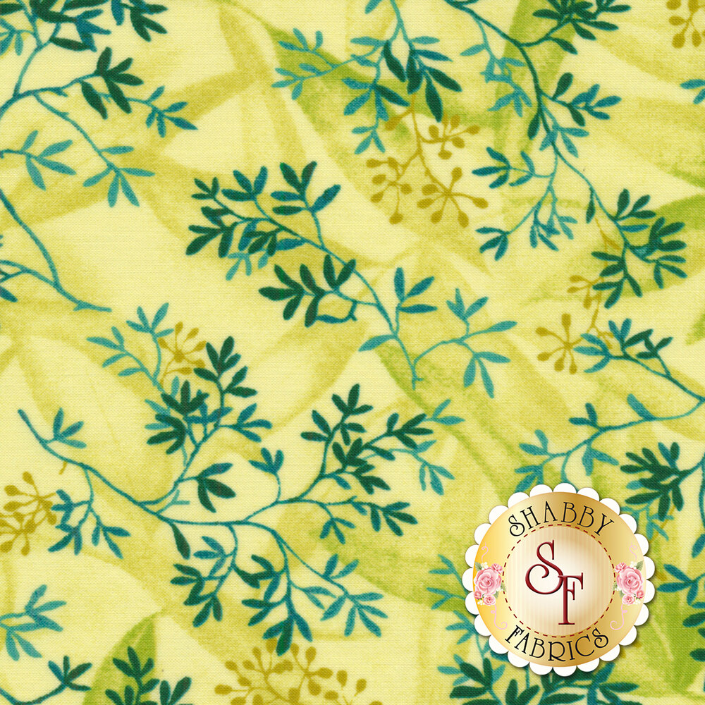 Rejuvenation 90304-S Yellow Delicate Leaves