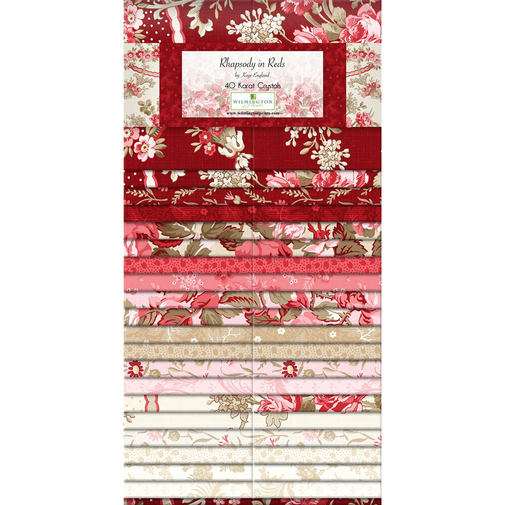 Digital image of Rhapsody In Reds Precut Strips | Shabby Fabrics