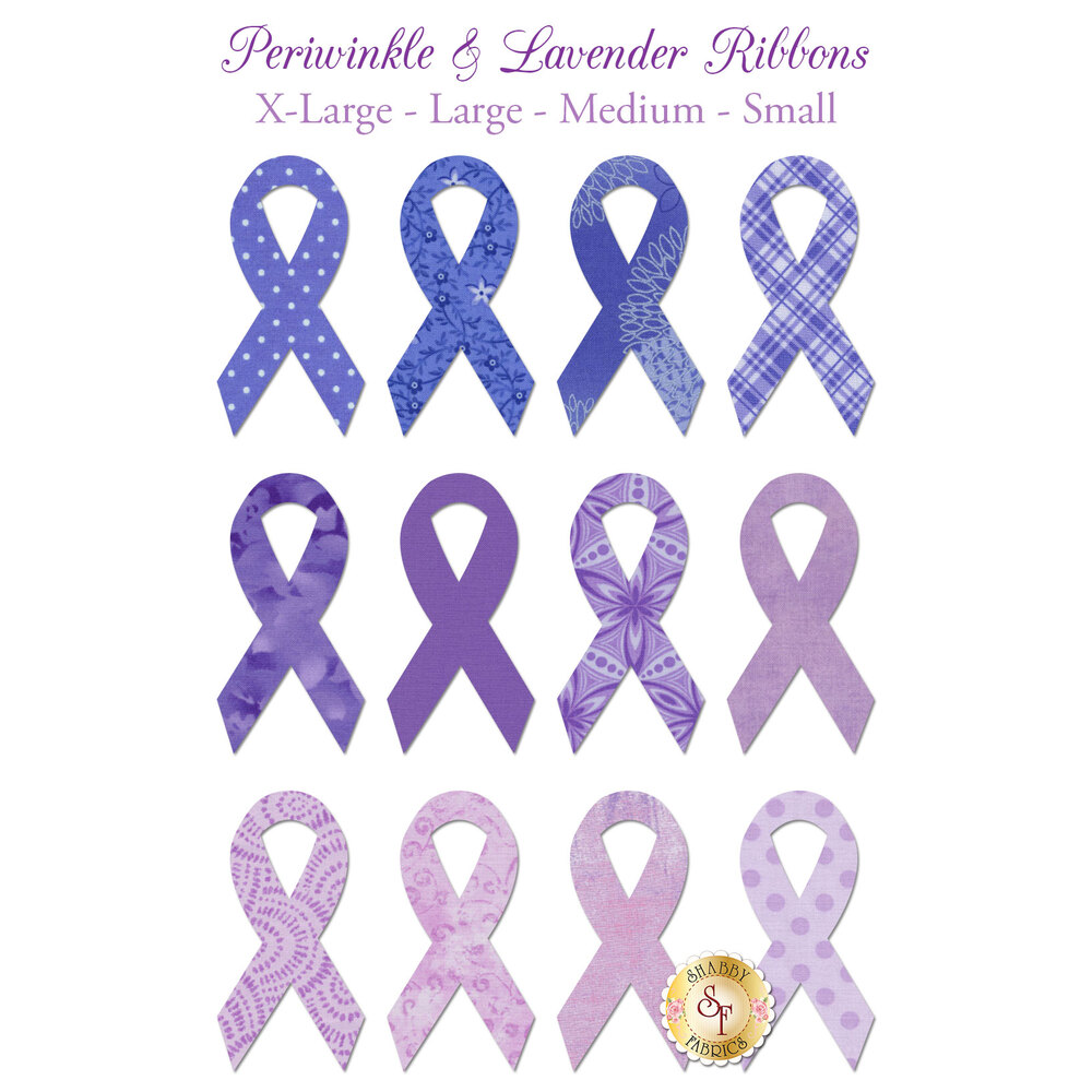 Laser-Cut Lavender & Periwinkle Ribbons - 4 Sizes Available!