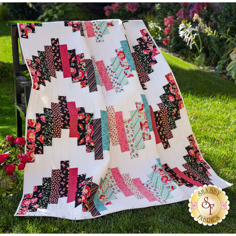 Ridiculously Easy Jelly Roll Quilt Kit - Pink Garden