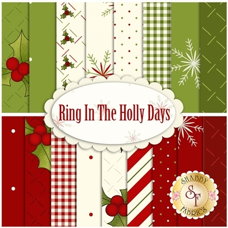 Ring In The Holly Days  Yardage by Henry Glass Fabrics