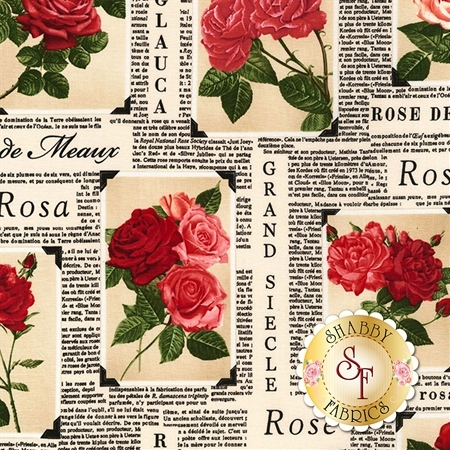 Rose Garden C5813-Latte by Timeless Treasures Fabrics