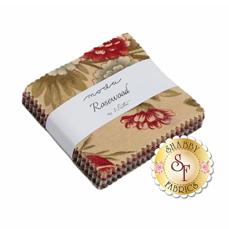 Rosewood  Mini Charm Pack by 3 Sisters for Moda Fabrics