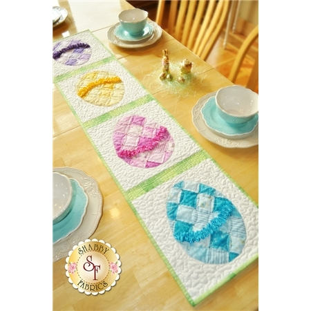 Ruched Easter Egg Table Runner Pattern Shabby Fabrics