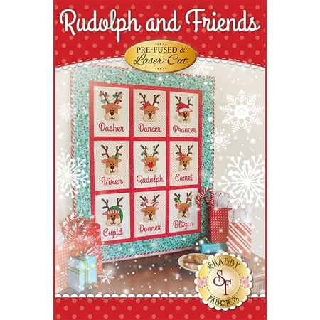 Rudolph & Friends Quilt Kit - Pre-Fused/Laser-Cut