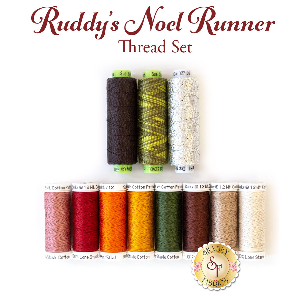 Ruddy's Noel Runner - 11 pc Thread Set