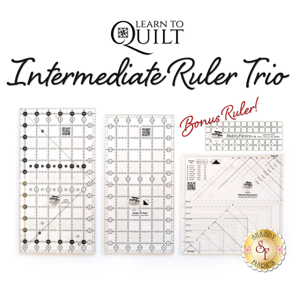 Learn To Quilt - Intermediate Ruler Trio