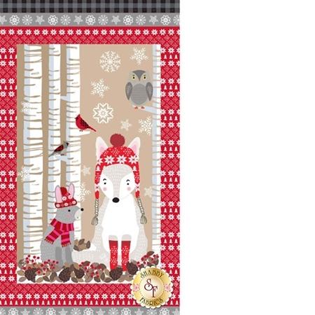 Snow Delightful 3850P-98 Panel by Studio E Fabrics