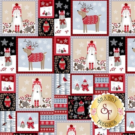 Snow Delightful 3853-93 Panel by Studio E Fabrics