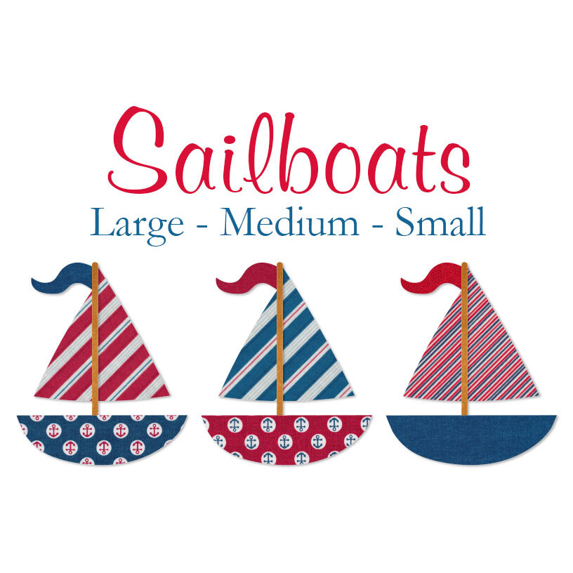 Laser-Cut Sailboats - 3 Sizes Available!