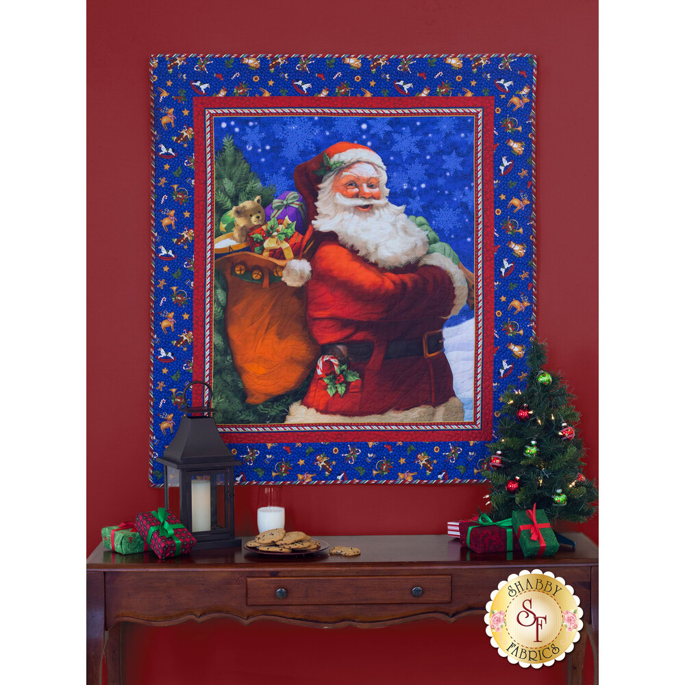 Santa Claus is Coming to Town Wall Hanging - SAMPLE QUILT