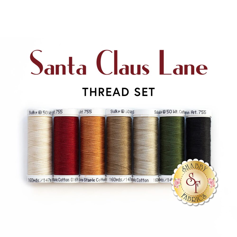 Santa Claus Lane Wall Hanging Kit - Sweet Holly - 7pc Thread Set | Shabby Fabrics