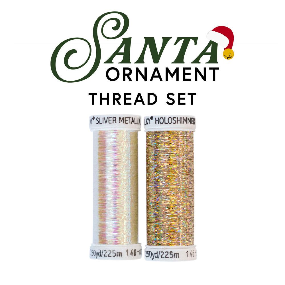 Santa Ornament - 2 pc Thread Set
