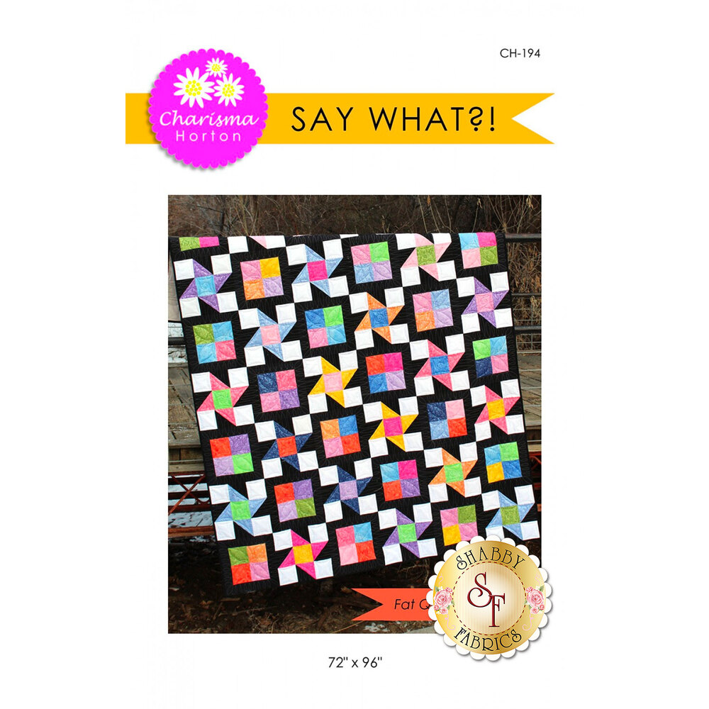 Front of the Say What?! pattern by Charisma Horton | Shabby Fabrics