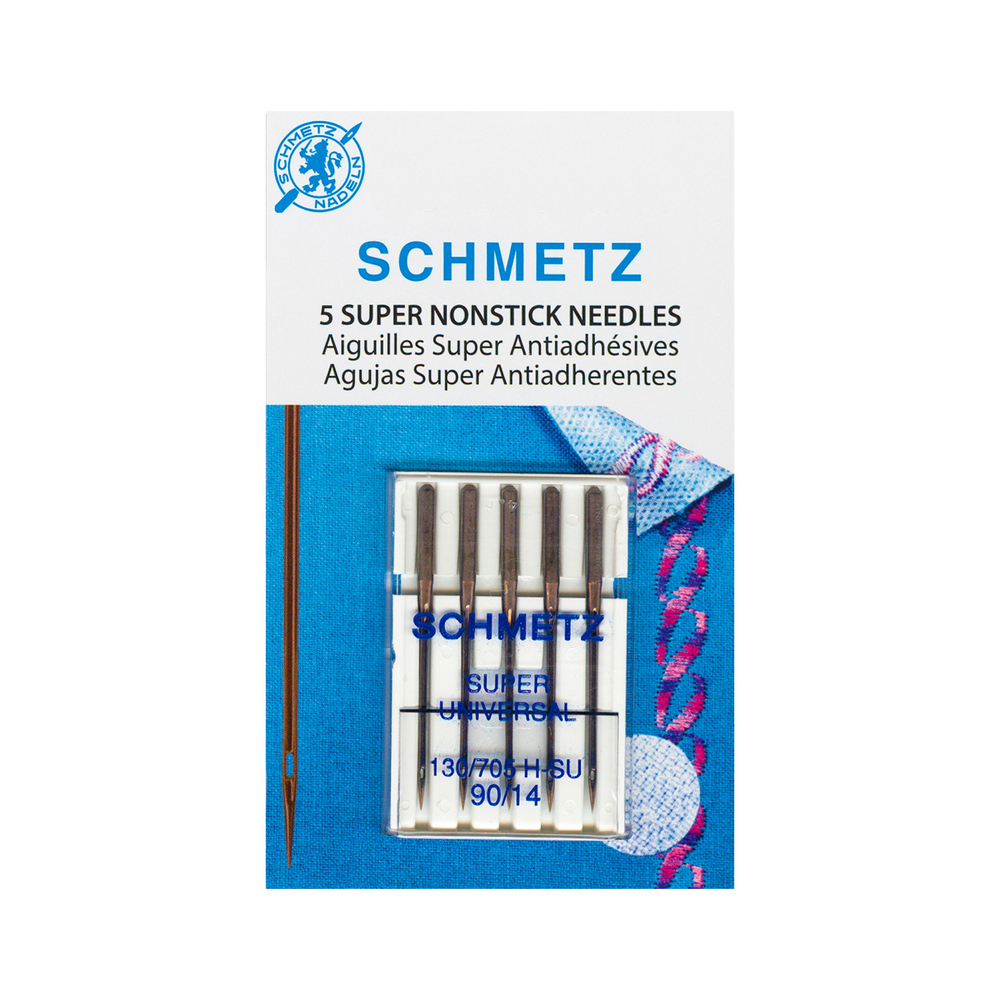 A pack of Schmetz Super Nonstick Needles - Size 90/14 - 5ct