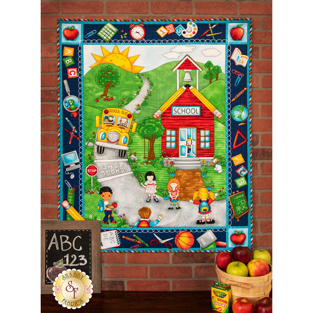 School Zone Wall Hanging Quilt Kit